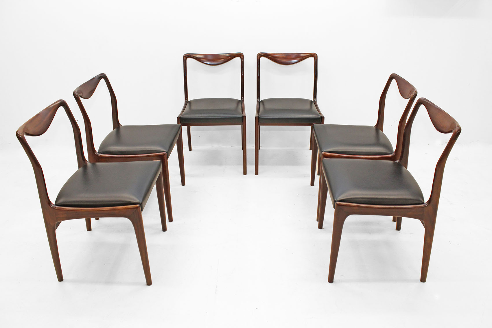 set of 6 chairs in afromosiateak