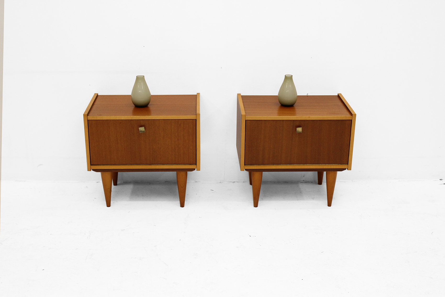 Couple of small nightstands early sixties