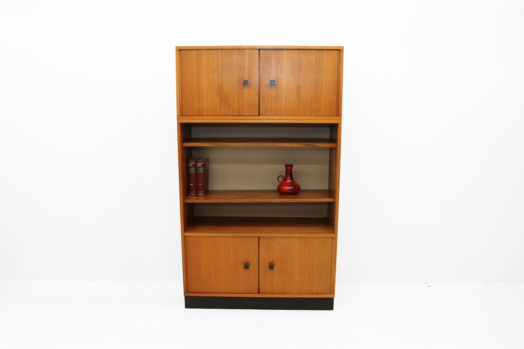 office cabinet with open bookcase