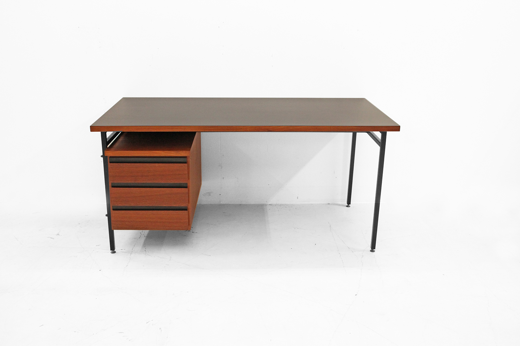 Home - office desk in dark teak