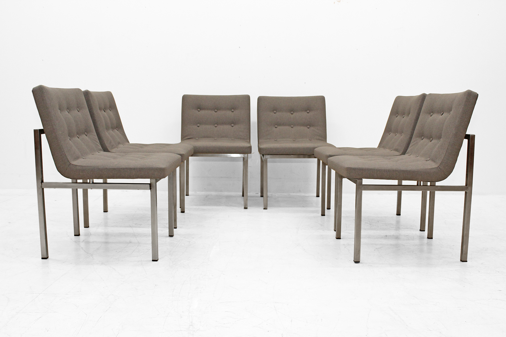 set of six massive chairs designed by alfred henrickx