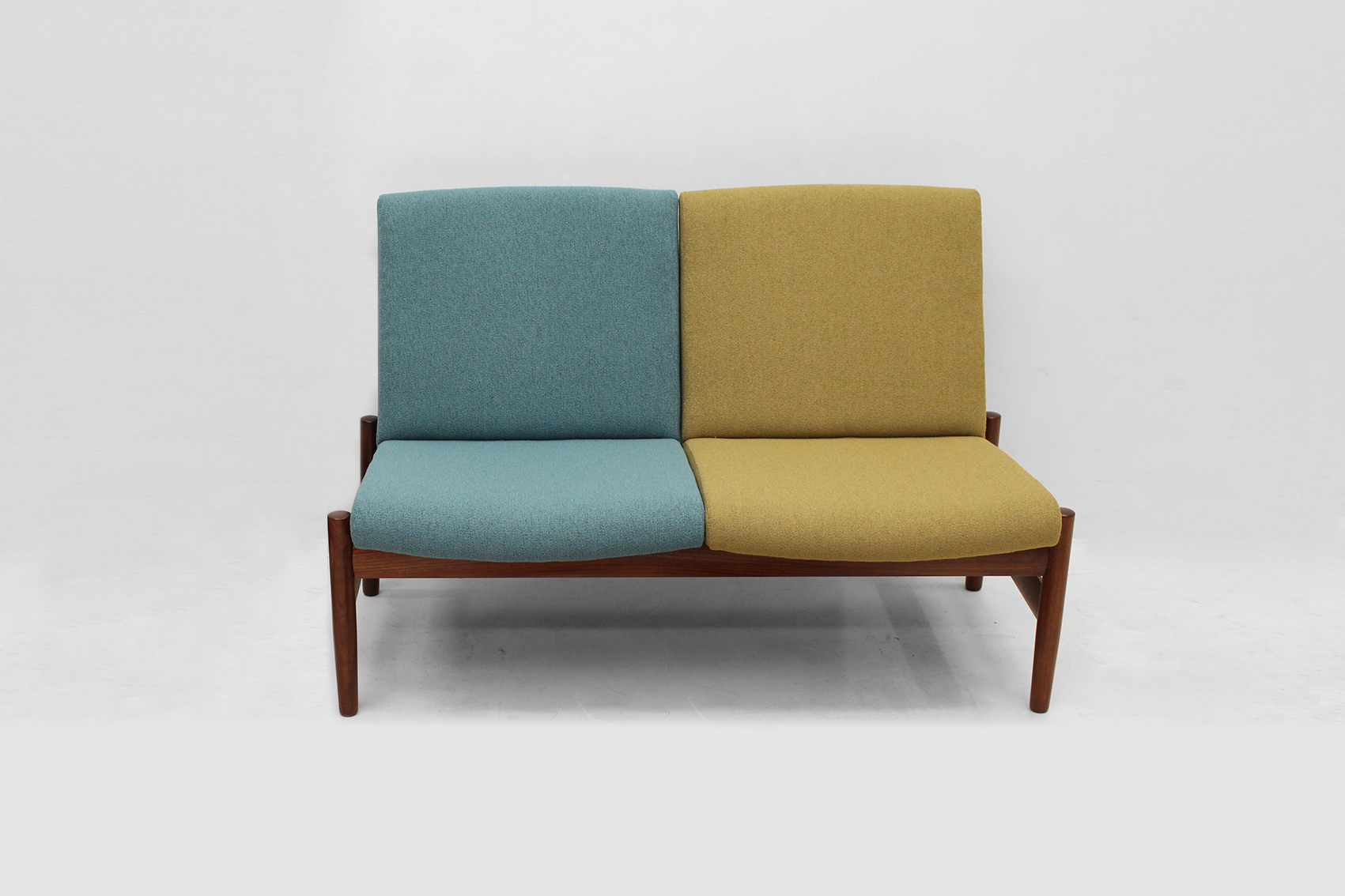 Twin seat from the late fifties blue and green