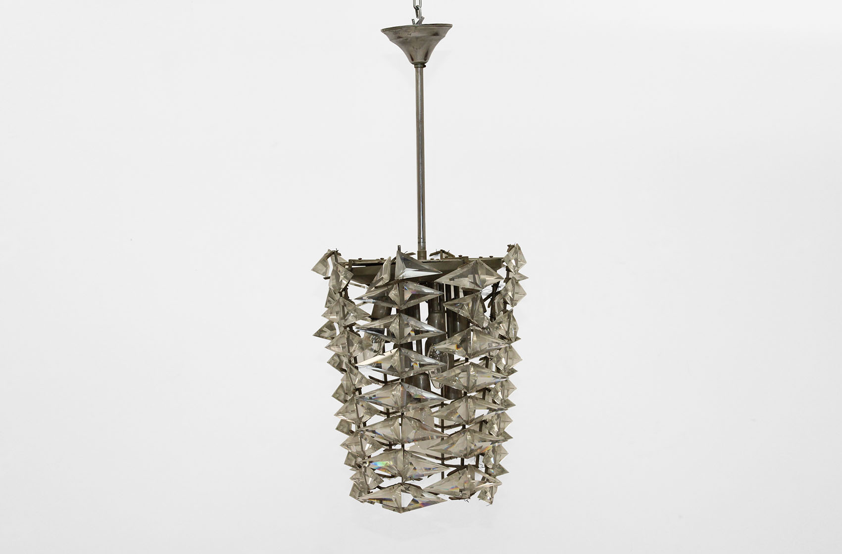 late fifties chandelier with christal  bubbles